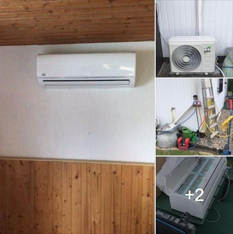 REMKO 2,6 kw Klimaanlage im Schrebergarten eingebaut.